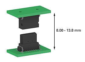 One27 connectors Flexible Board-to-board Distances