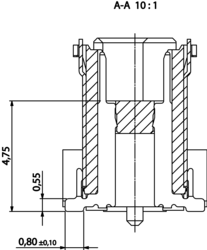 Colibri Plug 8mm section