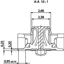 Colibri Receptacle section