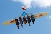 A high-flying attraction won over the crowd at the ept summer party