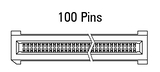 Dimensions EC.8 straight 100 pins