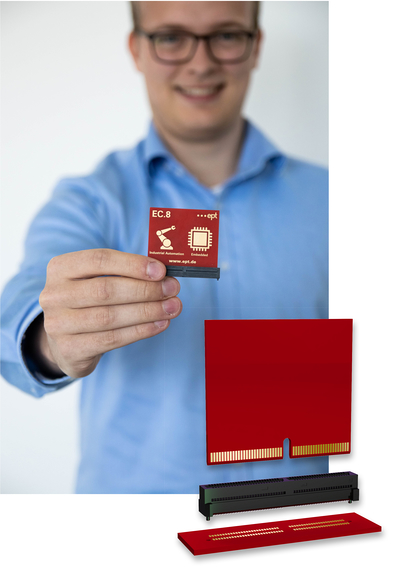 ept Product Manager Jan Lehmann presents the EC.8 edge card connector