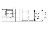 DIN H15 FL Faston Zeichnung v2