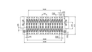Dimensions Zero8 plug straight shielded 52 pins