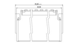 Dimensions Zero8 socket angled shielded 52 pins